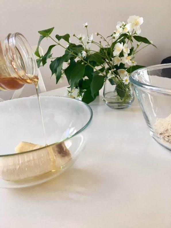 Ciasto owsiane z truskawkami