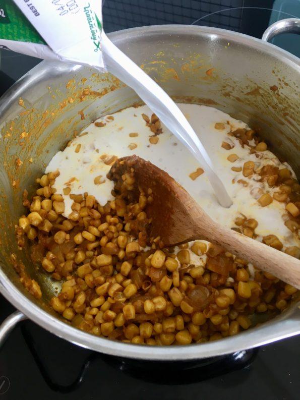 Krem z kukurydzy po tajsku