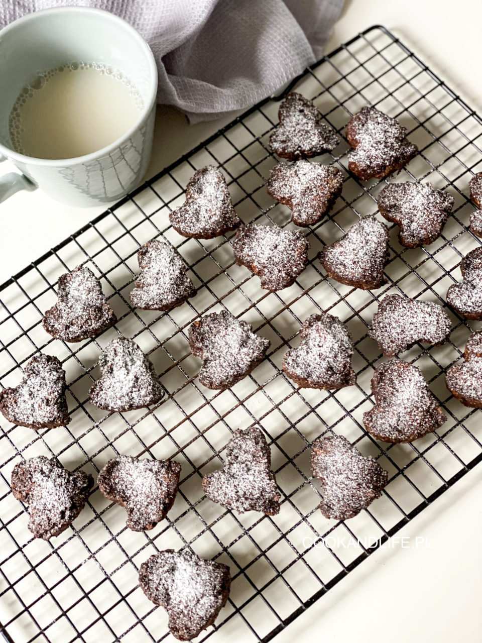 Ciasteczka kakaowo-owsiane w 10 minut